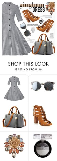 """""""Check Republic: Gingham Dress"""" by katjuncica ❤ liked on Polyvore featuring daria, Forever 21 and gingham"""