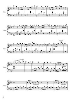 Sheet music made by evilmonkey2270 for Piano