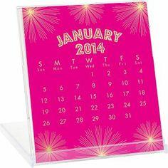 2014 Paper Source Foil Desk Calendar $19.95