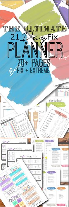 NEW and IMPROVED 21 Day FIX and 21 Day Fix EXTREME PLANNER!!! Meal planner, progress / measurement tracker, recipe binder, 21 day journal and SO much MORE!