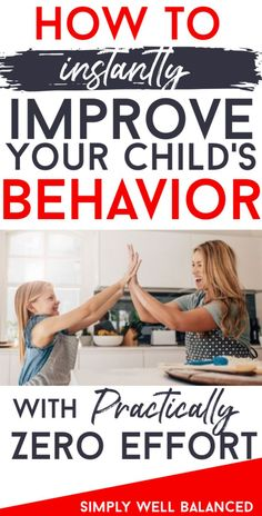 Does it feel like you're constantly nagging at your children, but it doesn't make any difference. Learn this simple trick to improve your child's behavior without yelling or barking orders. How to use positive parenting and affirmation to create a stronger bond with your child. #positiveparenting #gentleparenting #parentingadvice #momlife