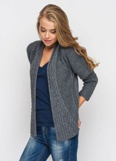 Knitwear Cardigan Free Pattern Ideas For 2019 Knitted Ideas - S . Knitting fashion cardigan free patterns ideas for 2019 knitting ideas – knitting is as easy a Mohair Cardigan, Cardigan Gris, Knit Cowl, Kimono Cardigan, Knitting Stitches, Knitting Patterns Free, Baby Knitting, Free Pattern, Pattern Ideas