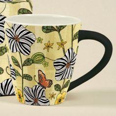 We love this Lang Artisan Cafe Mug! Perfect for springtime. Artisan Cafe, Vintage Cups, China Painting, Tea Cups, Calendar, Table Settings, Pottery, Tableware, Coffee Mugs