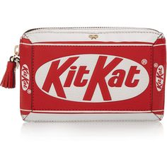 Anya Hindmarch Kit Kat® textured-leather clutch (74.080 RUB) ❤ liked on Polyvore featuring bags, handbags, clutches, red, red purse, anya hindmarch, zipper handbag, red clutches and anya hindmarch handbag