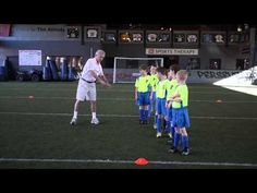 """Soccer Drills - This drill for u8 and older teaches players to be aggressive, brave, to not get pushed off the ball, and how to steal the ball. Coach Chuck said """"This made an immediate improvement on my boys on how to fight for a ball."""" Coach Mark said """"This is working beyond belief. Some of my timid girls are now amongst the toughest on the team."""" For detailed instructions visit www.SoccerDrills.net"""