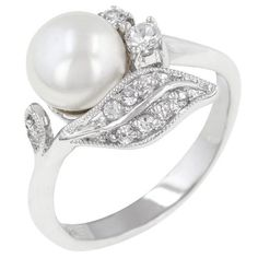 Flowered Pearl Ring