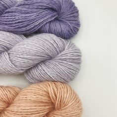 These are 'Lavender', 'Lilac' and 'Peach' all on the fingering/sport weight silk mohair base. Can't decide which one is my favorite. Lilac, Lavender, Fiber, Bouquet, Peach, Base, Throw Pillows, Sport, My Favorite Things