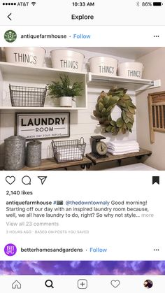 💛 ❤️ ✨ tips baby rice bts ketorecipes eyemakeup gifts bts funnymemes tutorial tips chicken Laundry Decor, Laundry Room Remodel, Laundry Room Bathroom, Farmhouse Laundry Room, Small Laundry Rooms, Laundry Room Organization, Laundry Room Design, Laundry Closet, Laundry Basket