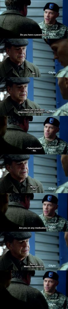 "Walter Bishop (John Noble) of Fringe is possibly my most favorite TV character of all time. A brilliant scientist, missing parts of his brain per his own request, a heart of gold, loves his son so much he would cross over universes to save ""Parallel Peter"", and won't ever miss out on a chance to drop some acid or burn a fatty, all for the good and the glory of science :)"