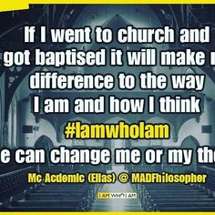 Our #Twitter follower Elias has shared his thoughts with us #church #baptized #iamwhoiam #beyourself #religion