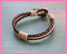 beach jewelry made of hemp | ... Leather Bracelets - Men's Bracelets - Bracelets - Sunny Beach Jewelry