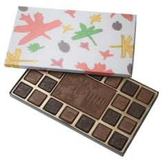 Autumn Leaves Box of Chocolates - diy cyo customize create your own personalize
