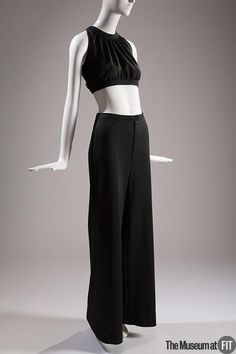 72202f6dd87 Polyester knit crop top and pants set by Yves Saint Laurent Rive Gauche via  The FIT Museum