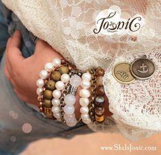 Introducing TRIO Nude Lee Collection:  Inspirational triple stranded bracelets with nude tone stones & Signature Jo-niC bead.  Shop now at www.sheisjonic.com