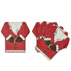 12 Pre Folded Santa Napkins - from Lakeland