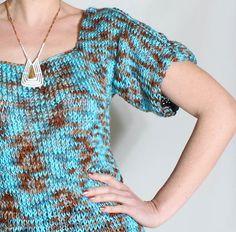 scoop neck sweater [knitting pattern]