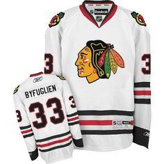 Chicago Blackhawks 33 Dustin Byfuglien Road Jersey - White 538e65b5c