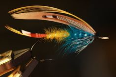 Blue Wasp. From Kelson. 3/0 Partridge CS10-1, slightly modified. By James F. Goggans