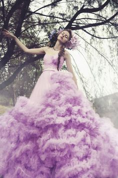 'Painting a Garden' Fashion Editiorial by Gladys Ng