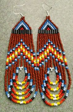 Native American Brown with Multi Colored by prettyuniquedesigns2, $25.00