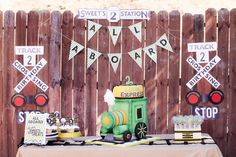 Train birthday party - love this banner! Chuggington Birthday, Trains Birthday Party, Train Party, 4th Birthday Parties, Pirate Party, Third Birthday, Boy Birthday, Birthday Ideas, Birthday Stuff