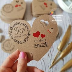 Diy And Crafts, Wedding Day, Place Card Holders, San Valentino, Genere, Big Shot, Weeding, Biscotti, Scrap