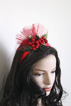 Fancy Dress Costume Accessories SW Christmas Fascinator Headband Snowman