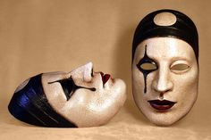 Pierrot the Moon Mask by Piratemask on Etsy