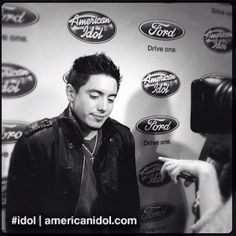 """We interviewed Season 10's Stefano Langone after his performance of """"I'm On A Roll"""" at the Top 6 results show. #idol"""