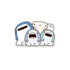 Hanging with the shark gang and happy seal! Bff Drawings, Cute Cartoon Drawings, Cute Animal Drawings, Cartoon Wallpaper Iphone, Cute Wallpaper Backgrounds, Cute Cartoon Wallpapers, Kawaii Doodles, Cute Doodles, Shark Illustration