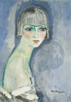 Kees Van Dongen - La perruque argent 1919 (65cmx46cm)