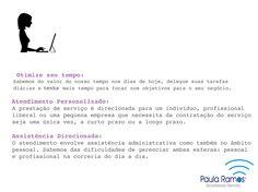 Secretariado Remoto - Razões para conhecer, contratar e indicar. http://www.paulasecretariadoremoto.com/