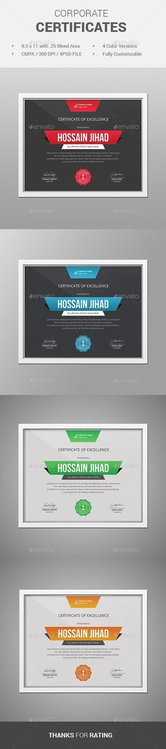 Certificate by themedevisers Modern Certificate Template. Use this Certificate Template in your business, company or institution in completion of any course, Stationery Printing, Stationery Templates, Stationery Design, Print Templates, Psd Templates, Design Templates, Certificate Of Appreciation, Certificate Of Achievement, Certificate Design