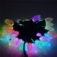 Mokungit 50 Nodes Addressable RGB C9 DC5V/12V WS2811 Christmas LED Pixel String Light Full Color Crystal C9 Cover All Green Wire IP68 Waterproof -- Awesome products selected by Anna Churchill