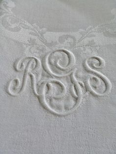 Monograms - White on White
