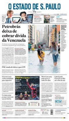 Capa de hoje: Petrobrás deixa de cobrar dívida da Venezuela http://oesta.do/1kXej2j