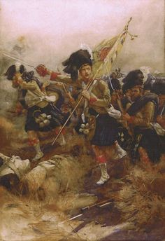 The Charge of the 93rd Highlanders at the Battle of Cawnpore, Indian Mutiny Nov 1857. Located Argyll & Sutherland Highlanders Museum, Stirling Castle, Scotland. Depicts Capt William George Drummond Stewart (Feb 1831 – 19 Oct 1868) a Scottish recipient of the Victoria Cross for gallantry for the attack at Lucknow on Nov 16th 1857. A total of 18 Victoria Crosses were awarded for that one day, largest number ever awarded.