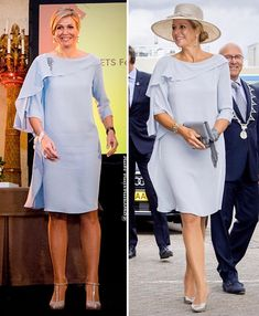 • Same dress💙 What is your favorite? . #queenmáxima #queenmaxima #queenmaximastyle #queenmaxima_same #queenmaxima_fashion #dutchroyal… Modest Dresses, Prom Dresses, Royal Beauty, She Is Gorgeous, My Fair Lady, Queen Maxima, Royal Fashion, Dream Dress, Chic Outfits
