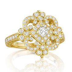 Penny Preville 18k Yellow Gold & Diamond Ring from Lee Michaels