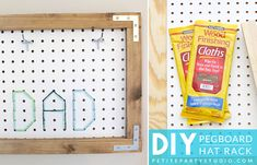 Pegboard Hat Rack by Petite Party Studio