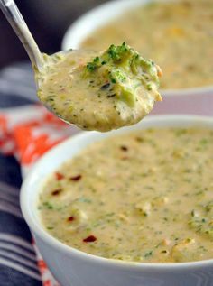 Panera Broccoli & Cheese Soup ~ no cream of anything! Includes GF options