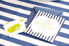 lime and navy color motif