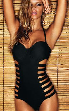 HOT HOT HOT: perfect for pool side glam, this swimsuit is sexy! #bikini #swimwear #sexy