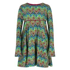 Oilily Baby Girls Multicoloured Mushroom Print Dress with Collar. Available at www.chocolateclothing.co.uk