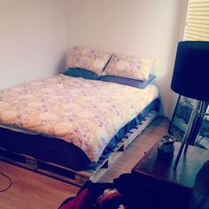 Bed build phase one #palletbed #Padgram