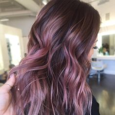 "Gonna do this blush balayage using @pulpriothair"" - Mercury mixed with blush and a few foils with jam"