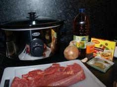 Vandaag een mooie riblap gekocht om in de slowcooker tot draadjesvlees te verwerken.  Het recept stond in het receptenboekje dat ik kreeg b...