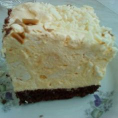 Beskidzkie cake with cream and meringue with a lawyer - main Polish Desserts, Polish Recipes, Cookie Desserts, Sweet Desserts, No Bake Desserts, Sweet Recipes, Delicious Desserts, Cake Recipes, Dessert Recipes