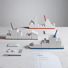 Unidad de recipientes en forma de bote y ciudad | La Guarida Geek