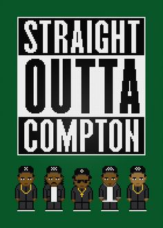 N.W.A - Straight Outta Compton - PixelPower - Amazing Cross-Stitch Patterns